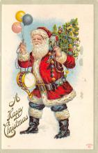 xms100561 - Santa Claus Post Card Old Antique Vintage Christmas Postcard