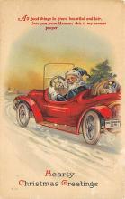 xms100593 - Santa Claus Post Card Old Antique Vintage Christmas Postcard