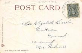 xms100597 - Santa Claus Post Card Old Antique Vintage Christmas Postcard