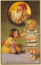 xms100621 - Santa Claus Post Card Old Antique Vintage Christmas Postcard