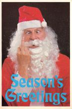 xms100629 - Santa Claus Post Card Old Antique Vintage Christmas Postcard