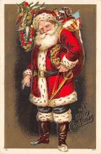 xms100631 - Santa Claus Post Card Old Antique Vintage Christmas Postcard