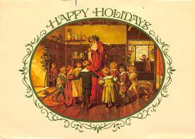 xms100647 - Santa Claus Post Card Old Antique Vintage Christmas Postcard
