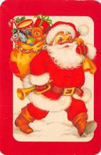 xms100653 - Santa Claus Post Card Old Antique Vintage Christmas Postcard
