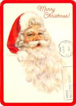 xms100663 - Santa Claus Post Card Old Antique Vintage Christmas Postcard