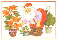 xms100667 - Santa Claus Post Card Old Antique Vintage Christmas Postcard