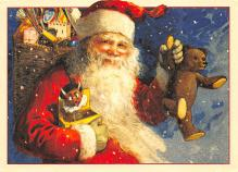 xms100669 - Santa Claus Post Card Old Antique Vintage Christmas Postcard