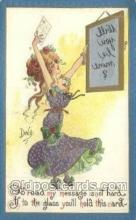 xrt015174 - Mirror Girl Artist Dwig, Dwiggens, Postcard Post Cards