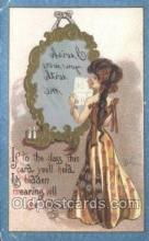 xrt015175 - Mirror Girl Artist Dwig, Dwiggens, Postcard Post Cards
