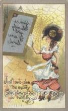 xrt015177 - Mirror Girl Artist Dwig, Dwiggens, Postcard Post Cards
