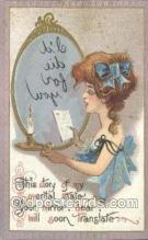 xrt015181 - Mirror Girl Artist Dwig, Dwiggens, Postcard Post Cards