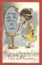 xrt015184 - Mirror Girl Artist Dwig, Dwiggens, Postcard Post Cards