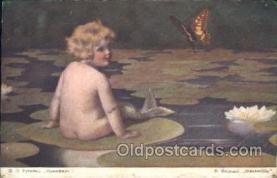 xrt022060 - Russian Postcard, Artist Signed Bessie Pease Gutmann, Postcard Postcards