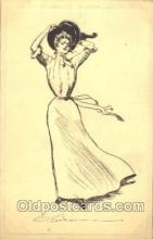 xrt023009 - Artist Signed Charles Dana Gibson, Postcard Postcards