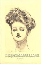 xrt023011 - Artist Signed Charles Dana Gibson, Postcard Postcards