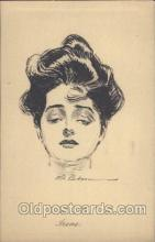 xrt023017 - Artist Signed Charles Dana Gibson, Postcard Postcards