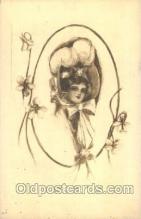 xrt023025 - Artist Signed Charles Dana Gibson, Postcard Postcards
