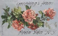 xrt035180 - Greetings from Penn Yan, NY USA, Artist Signed Catherine Klein Postcard Postcards
