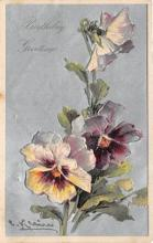 xrt035310 - Artist Catherine Klein Postcard Old Vintage Antique Post Card