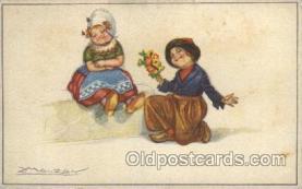 xrt043a002 - Artist Signed Mauzan Postcard Postcards