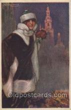 xrt043a098 - Artist Signed Mauzan Postcard Postcards