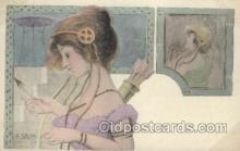 xrt055015 - Artist Signed Patella Postcard Postcards