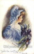 xrt082002 - Lillian Woolsey Hunter,  Artist Signed Postcard Postcards