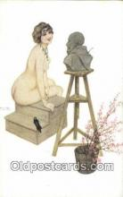 xrt096019 - Marque L-E Le Modele Irreverencieux #17 Artist Signed Raphael Kirchner Postcard Post Card Old Vintage Antique