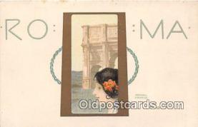 xrt096032 - Roma, Theo Stoefer, Nurnberg, Series 220, No 7 Artist Raphael Kirchner Postcard Postcard Post Card