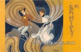 xrt096043 - Santoy IV Artist Raphael Kirchner Postcard Postcard Post Card