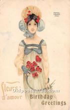 xrt096117 - Artist Raphael Kirchner Old Vintage Postcard
