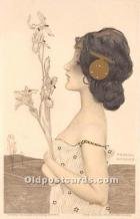xrt096120 - Artist Raphael Kirchner Old Vintage Postcard