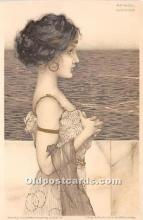 xrt096122 - Artist Raphael Kirchner Old Vintage Postcard
