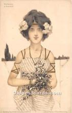 xrt096123 - Artist Raphael Kirchner Old Vintage Postcard