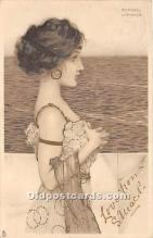 xrt096124 - Artist Raphael Kirchner Old Vintage Postcard