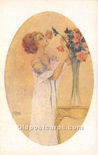 xrt096125 - Artist Raphael Kirchner Old Vintage Postcard