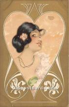 xrt096128 - Artist Raphael Kirchner Old Vintage Postcard
