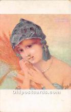 xrt096144 - Artist Raphael Kirchner Old Vintage Postcard