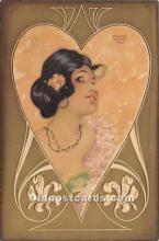 xrt096168 - Artist Raphael Kirchner Old Vintage Postcard