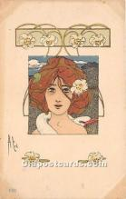 xrt096218 - Artist Raphael Kirchner Old Vintage Postcard