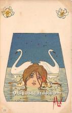 xrt096220 - Artist Raphael Kirchner Old Vintage Postcard