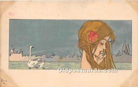 xrt096222 - Artist Raphael Kirchner Old Vintage Postcard