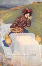 xrt096224 - Artist Raphael Kirchner Old Vintage Postcard