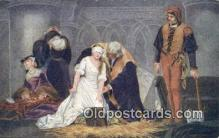 Paul de la Roche - Execution of Lady Jane Gray Art Postcards Post Card