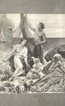 xrt100176 - Puvis De Chavannes - The Fisherman's Family Art Postcards Post Cards Old Vintage Antique