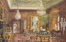 Cedar Drawing Room, Warwick Castle Art Postcards Post Card