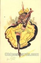 xrt105004 - Artist Signed Alice Huertas, French Cancan Postcard Postcards