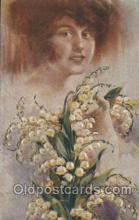 xrt124004 - Artist Signed M. Santino Postcard Postcards