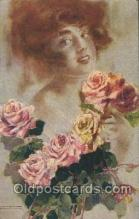 xrt124007 - Artist Signed M. Santino Postcard Postcards