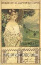 Serie 166 No 6 Art Nouveau Postcard Post Card